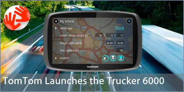 tomtom trucker 6000 gps truck sat nav free lifetime maps 1 year live traffic ebay. Black Bedroom Furniture Sets. Home Design Ideas