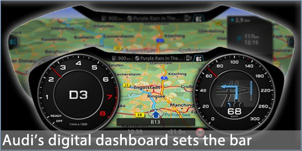 Audi Show Way With Digital Dashboard