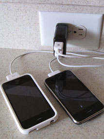 The Exspect triple USB travel charger