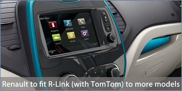 renault to offer rlink with tomtom option on more vehicles. Black Bedroom Furniture Sets. Home Design Ideas