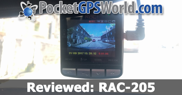 Reviewed: RAC 205 Dashcam