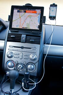 The TomTom High Speed Multi-Charger in action