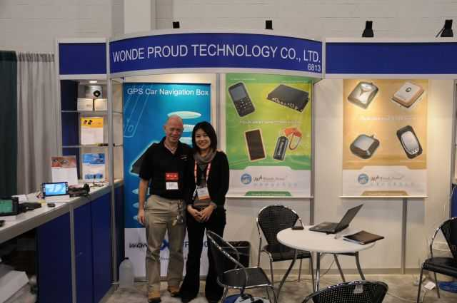 Mike and Monica at the Wonde Proud stand
