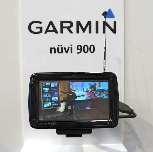 Nuvi 900T showing DVB-H in action