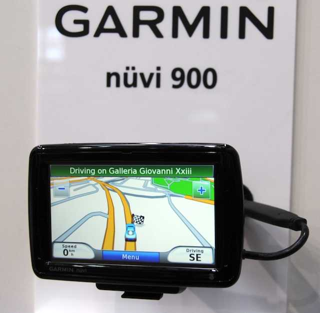 Nuvi 900T showing mapping