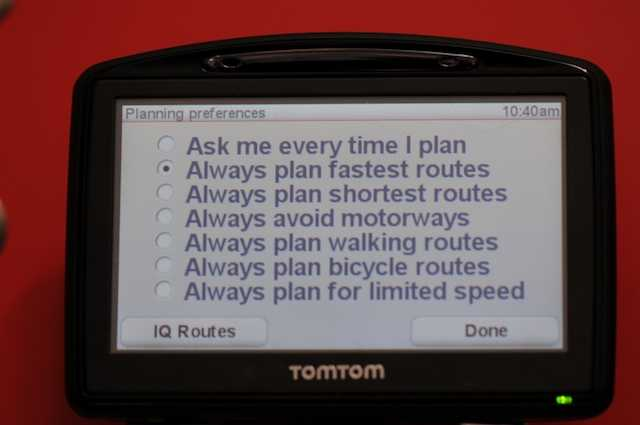 The new TomTom GO930 IQ routing selection