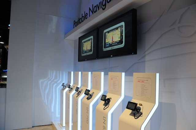 The LG Navigation display