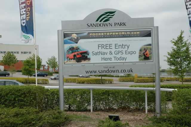 The correct entrance for the Sandown Expo