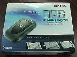 The Emtac BT GPS package.