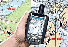 Maptech outdoor navigator GPS software.
