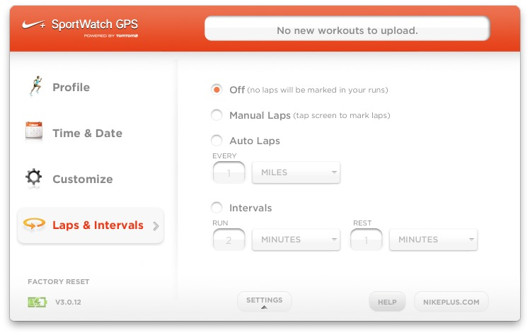 Nike+ Client Software