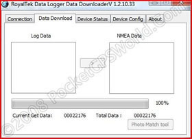 Software Client Data Download Tab