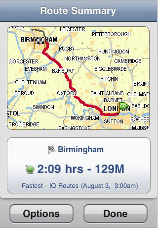 TomTom iPhone Map Planner