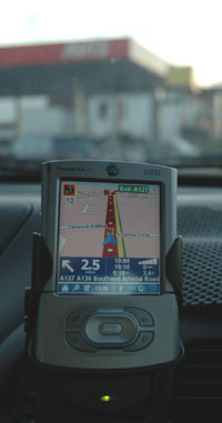 TomTom navigator for palm POIs