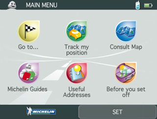 ViaMichelin satnav software version 7